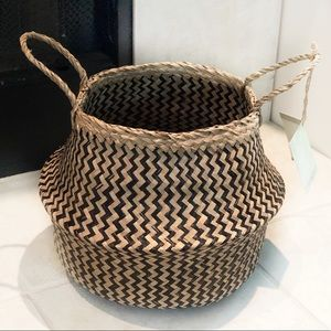 Foldable Natural Seagrass Basket